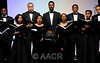 Washington, D.C. - AACR 101st Annual Meeting 2010: The Howard University Choir performs during the opening ceremonies at the American Association for Cancer Research Annual Meeting here today, Sunday,  April 18, 2010. More than 17,000 physicians, researchers, health care professionals, cancer survivors and patient advocates from 60 countries are attending the meeting at the Walter E. Washington Convention Center. The meeting covers the breadth of cancer science from basic through clinical and epidemiological research. Date: Sunday April 18, 2010 Photo by © AACR/Phil McCarten 2010 Technical Questions: todd@toddbuchanan.com; Phone: 612-226-5154. Keywords: Opening Ceremonies, Howard University Choir Session: 324